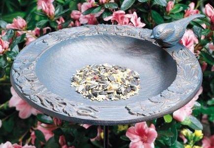 Whitehall Verdigris Chickadee Garden Bird Feeder - 01572