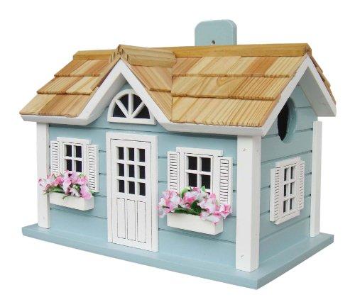 Home Bazaar Nantucket Cottage Birdhouse Blue