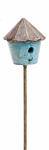 Marshall Home and Garden Blue Birdhouse Miniature Fairy Garden Accessory MG35