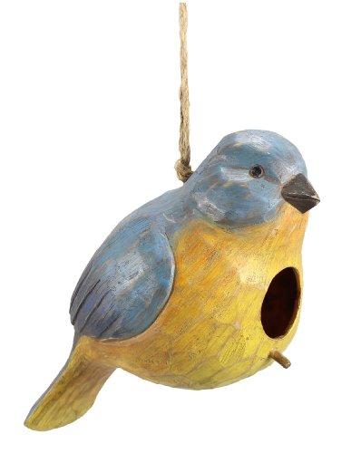 Youngs Resin Blue Bird Birdhouse 11-inch