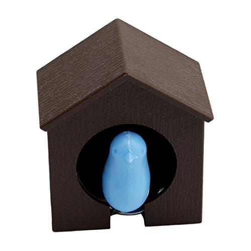 UNKE Cute Sparrow Bird House Nest Whistle Keychain Key Ring Key Holder Protector Wall Hook Hanger GiftBrown House Blue Bird