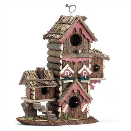 Gingerbread Style Birdhouse Avian Bird House Condo Garden Lawn Supply Maintenance