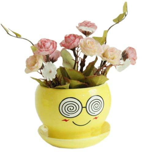 Creative DecorGift Funny Cartoon Earthenware Planter Flower Pot 3527