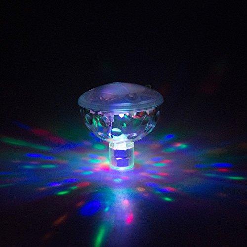 LSHCX RGB Glow LightColor Changing Colorful Bathroom LED Disco AquaGlow Light waterproof in tub Pond Pool Spa Hot Tub Bathtub Floating Lamp