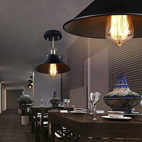 Smart Green Lighting Chic Industrial pendant lighting Rustic ceiling LightUpside down Martini Glass Shape black