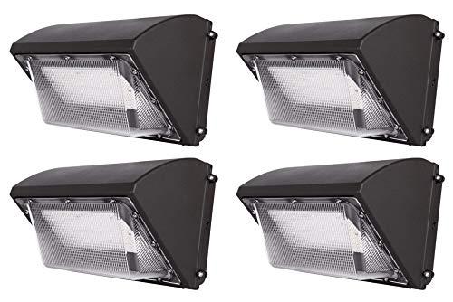 Hyperikon LED Wall Pack 70W HPS HID Replacement Commercial and Industrial Outdoor Lighting 5000K IP65 Waterproof 4 Pack Renewed
