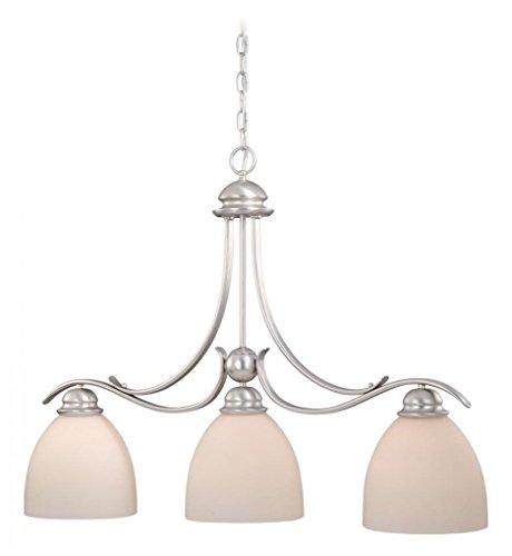 Vaxcel Usa Alpdd360bn Avalon 3 Light Island Pendant Lighting Fixture In Nickel Glass