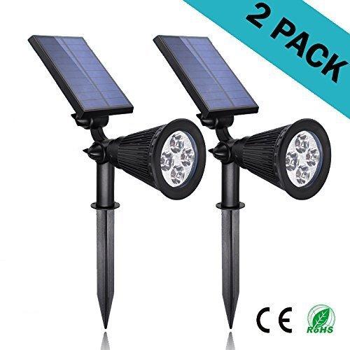 Solar Lights 2-in-1 Led Outdoor Landscape Lighting - 200 Lumens Spotlightndash 2 Packndash Easy To Installndash Waterproof