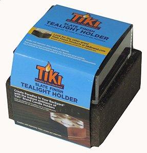 Tiki light slate finish tealight holder