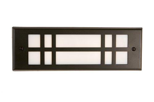 Highpoint Deck Lighting Hp-772r-mbk Red Rocks 12-volt Artistic Brick Recessed Outdoor Deck And Step Light Fixture