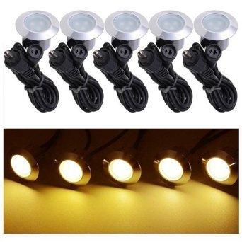 UNITECH 5 Pack 12v LED Recessed Deck Lighting Fixture