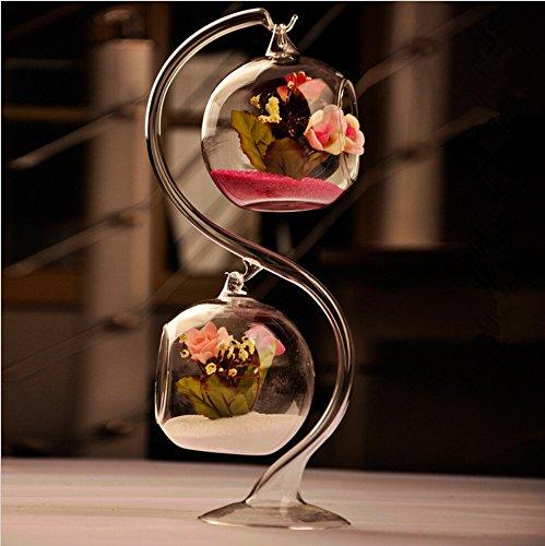 Bloss Two-layer Charming Clear Glass Hanging Planter Terrarium Globe  Tea Light Candle Holder Lantern