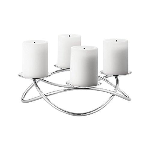 Georg Jensen SEASON candleholder large stainless steel