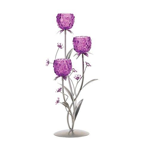 VERDUGO GIFT Fuchsia Blooms Candleholder