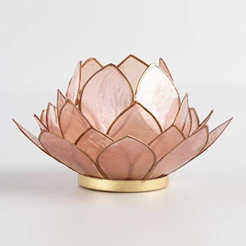 Way Home Fair Blush Lotus Capiz Tealight Candleholder