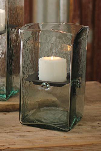 Kalalou Square Candle Holder Hurricane Small