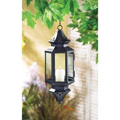 Hanging Lantern Candle Holder Moroccan Ornament Iron Guard Decor Metal Display