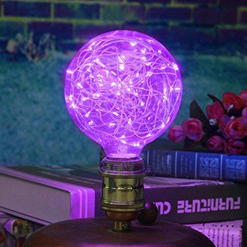 Outgeek Light Bulb Lamp Bulb Vintage Decorative String Antique Filament LED Starry Light Bulb