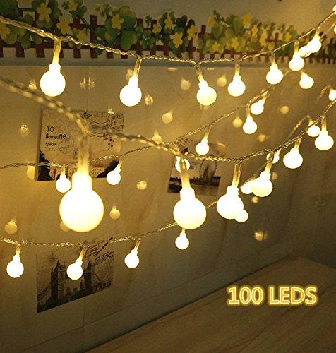 100 Led Globe String Lights Ball Christmas Lights Indoor  Outdoor Decorative Light Usb Powered 39 Ft Warm