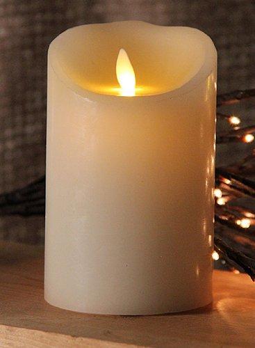 5&quot Ivory Luminara Flickering Flameless Led Lighted Outdoor Pillar Candle