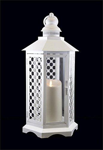 Floral Lattice Lantern with Luminara Flameless LED Lighted Candle