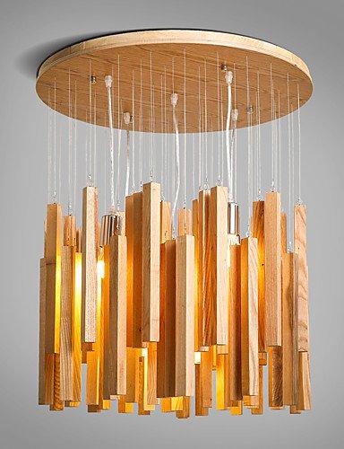 WCG New Modern Contemporary Decorative Design Wooden Ceiling Light Dinning RoomLiving RoomBedroom Chandelier  110-120v