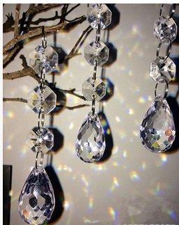 Urparcel Lighting Decoration Flat Waterdrop for Wedding Bedroom Decoration Chandeliers Art Projectss30pcsgroup