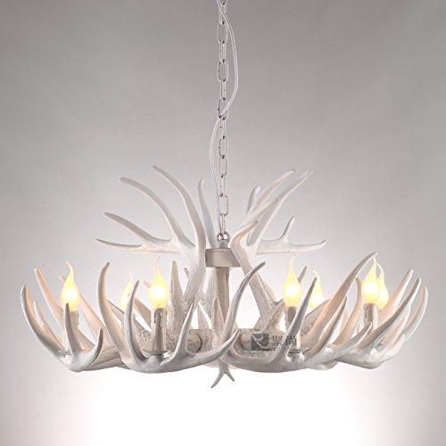 Haixiang Elk Antlers Ceiling Light Resin Snow White Chandelier Modern Pendant Lamp For Hall Dinning Room Restaurant