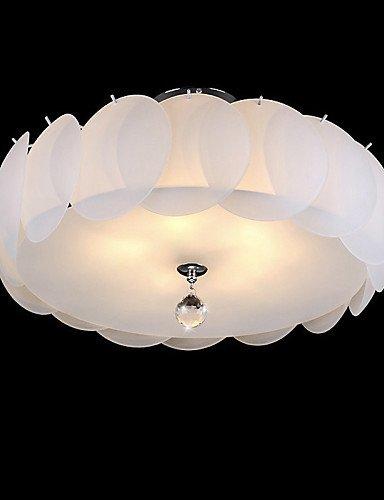 Ssby 5 Light Glass Chandelier Modern Pendant Light Dinning Room Living Room Family Room Bedroom  110-120v-white