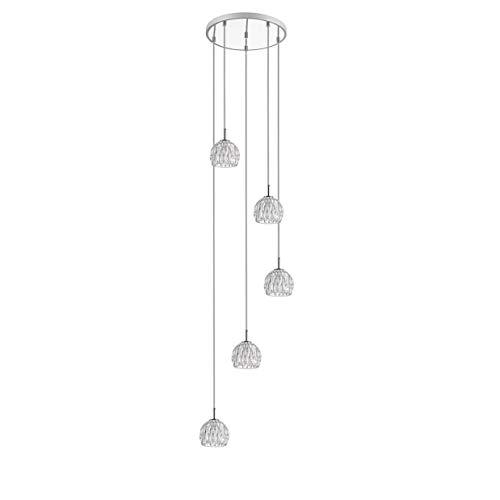 Lighting Pendant Metallic Glam Modern Contemporary Metal Bulbs Included Energy Efficient