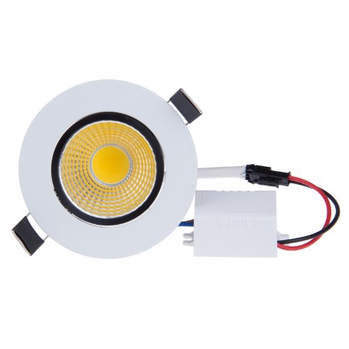 Lemonbest Dimmable 5w Cob Led Ceiling Light Downlight Warm White Spotlight Lamp Recessed Lighting Fixture , Halogen
