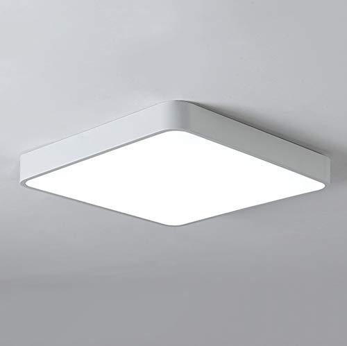 Ganeed LED Flush Mount Ceiling LightModern Square LED Ceiling Light12 Inch 24W Cool White Ceiling Lamps for Kitchen Bathroom Hallway Closets Bedrooms6500K100W Equivalent
