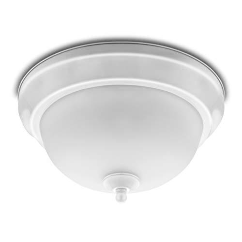 Hyperikon 11 Inch Ceiling Light White Dome 15W 65 Watt Flush Mount Indoor Lighting 4000K Daylight Dimmable UL Energy Star