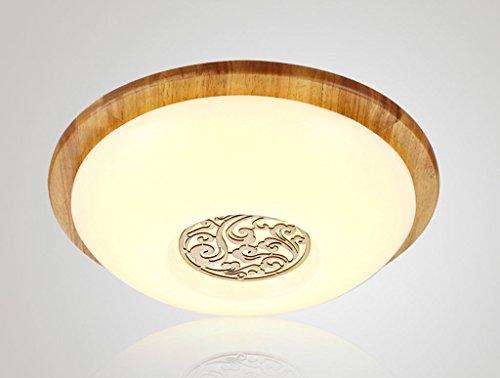 Chinese wood bedroom lamp led round ceiling lamp den balcony aisle minimalist decorative ceiling lights Size  45x10cm