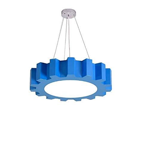 ZLHLL LED Modern White Light Pendant Light Blue 18W Height Adjustable Iron Acrylic Pendant Light Creative Decorative Ceiling Light forOfficeLighting Ø40cm
