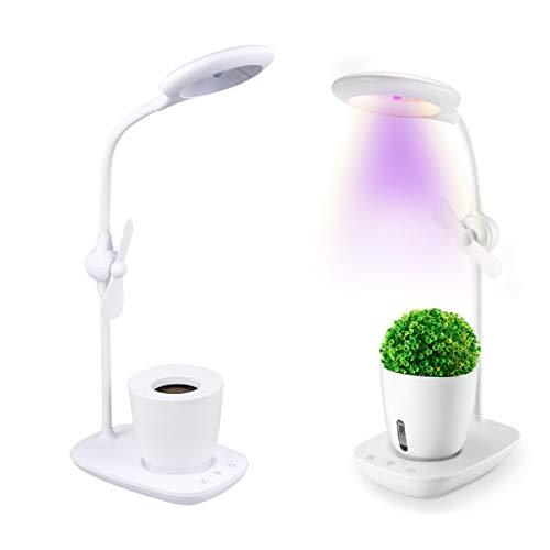 Mobestech Succulent Grow Lamp Full Spectrum LED Plant Light with Fan LED Grow Light for Vegetable Greenhouse Flower 1Pcs White
