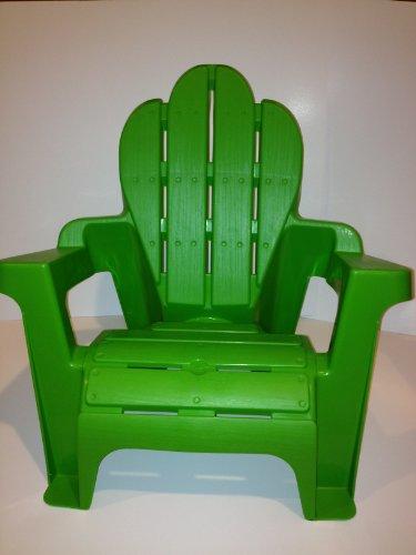 Kids Plastic Adirondack Chair Green Scallop Top Light Weight