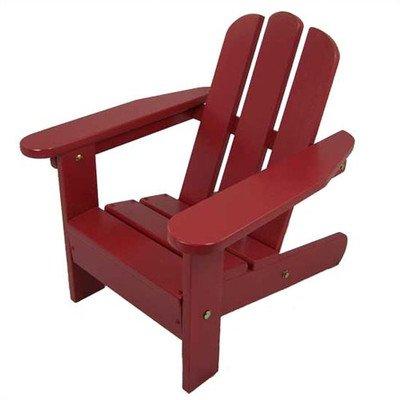 Kids Adirondack Chair II Finish Firehouse Red