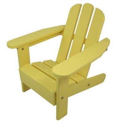 Kids Adirondack Chair II Finish Lemon Yellow