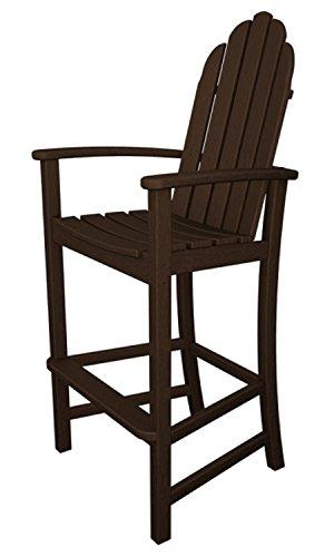 5275 Earth-Friendly Recycled Outdoor Patio Adirondack Bar Chair - Mahogany