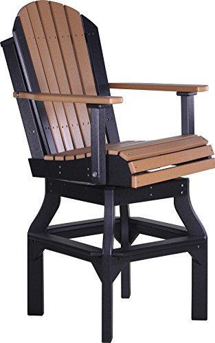 Luxcraft Recycled Plastic Bar Height Adirondack Swivel Chair