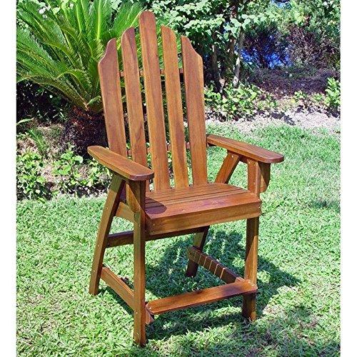 Wood Adirondack Bar Chair