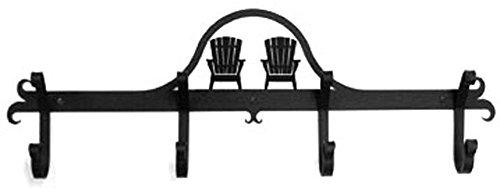 Wrought Iron Coat Bar Adirondack Chair
