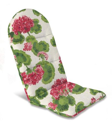 49&quot X 20-12&quot Weather-resistant Outdoor Classic Adirondack Cushion In Geranium