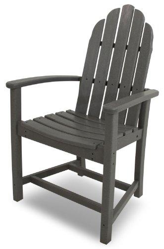 POLYWOOD ADD200GY Classic Adirondack Dining Chair Slate Grey