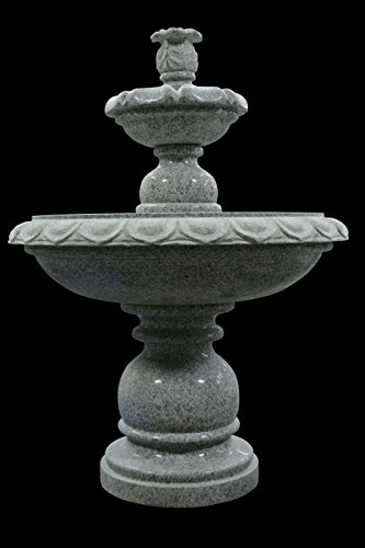Gray Marble Fountain 2 Tier Outdoor Garden Lawn Park Arbor Ft-17