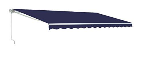Aleko&reg Retractable 10 X 8 Patio Awning 10ft X 8ft 3m X 25m Solid Blue Color