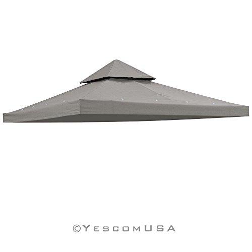 Yescom 10x10 2-Tier Waterproof Gazebo Top Replacement UV30 200gsqm Outdoor Patio Canopy Cover