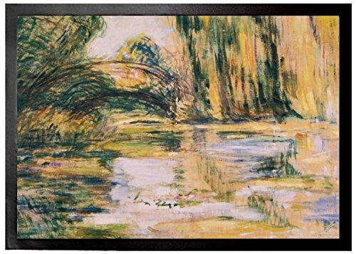 Claude Monet Door Mat Floor Mat - Waterlily Pond The Bridge 1899 28 X 20 Inches