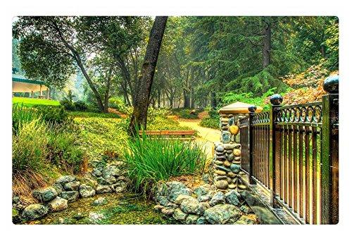 Irocket Indoor Floor Rugmat - Bridge Over Pond In A Beautiful Garden Hdr 236 X 157 Inches